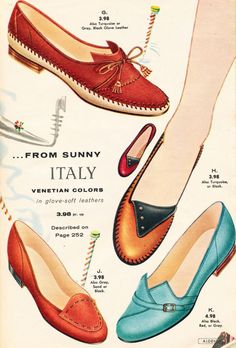 Oh, the shoes! Inspiration from Italy, the Vamps, Scarlet and Leather Baby Dolls!