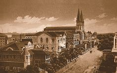 Once Upon a Time in Mumbai - Canvas prints of vintage Mumbai scenes | CHURCH OF THE HOLYNAME AT WODEHOUSE ROAD, COLABA - 1873