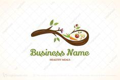 Logo for sale: organic spoon healthy meals logo healthy meals, healthy drinks, healthy Healthy Food Options, Healthy Snacks, Healthy Recipes, Healthy Drinks, Healthy Life, Food Logo Design, Logo Food, Spice Logo, Organic Food Market