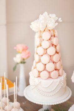 Macaron cake: http://www.stylemepretty.com/australia-weddings/2015/03/12/romantic-spring-sydney-wedding/   Photography: Glass Jar - http://glassjarphotography.com/