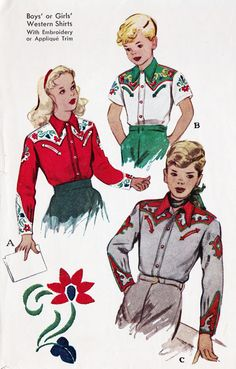 children's Western Shirt, 1950s