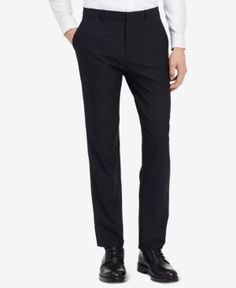 Calvin Klein Men's Infinite Slim-Fit Stretch Pants - Blue 36x34