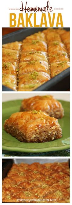 This Homemade Baklava recipe takes time but it is SO worth it! This Homemade Baklava recipe takes time but it is SO worth it! This Baklava is perfect for family functions parties or for gifting! Lebanese Recipes, Turkish Recipes, Greek Recipes, Lebanese Baklava Recipe, Family Recipes, Arab Food Recipes, Bosnian Recipes, Homemade Baklava Recipe, Homemade Butter