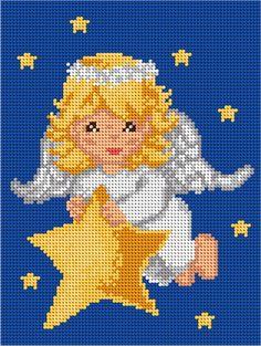goblen ariadna Christmas Charts, Cross Stitch Christmas Ornaments, Christmas Cross, Christmas Angels, Cross Stitch Owl, Cross Stitch Angels, Cross Stitch Patterns, Filet Crochet Charts, Crochet Diagram
