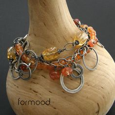 karneol i cytryn ... bransoletka Biżuteria Bransolety formood