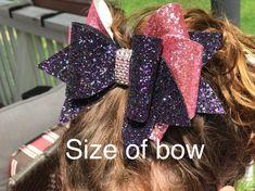 Large Rhinestone encrusted Triple Threat Cheer Bow// Team Cheer Bow Order// Silver Sparkle Bow//bling bow//blue, white and silver cheer b Handmade Hair Bows, Diy Hair Bows, Headband Hairstyles, Diy Hairstyles, Competition Bows, Cheer Bows, Team Cheer, Cheer Hair, Bow Template