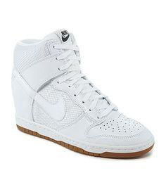 9528c7d77d dunk sky's Hidden Wedge Sneakers, High Top Sneakers, Nike Dunks, Dillards,  Nike