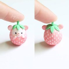 Straw-bby Hedgie figurine EDIT: all hedgies adopted~ I didn't realize she looked like a tomato before the spots until some of you told me but I'm glad I got such good reaction for this little sweetie! I'll be bringing a few more for the next update ♡