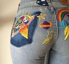 girls rainbow random fashion jeans hipster vintage photograph boho young indie moon Grunge acid psychedelic stars soul Clothes teens pastel Alternative youth planets American Apparel rad gypsy pale aesthetic acne studios