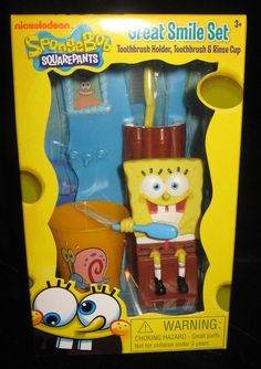 Nickelodeon Spongebob Awesome Smile Set 3 PC for sale online | eBay