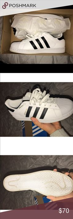 Adidas Superstar Mens Size 9 Used once only. Still in great conditions! Adidas Shoes Sneakers