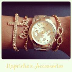 Geneva Watche With Cross Love Infinity Bracelet Small Now 70 00