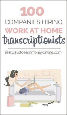 Job Discover 100 Work From Home Transcription Companies Mega-List! Want to do work at home transcription? Heres a massive list of more than 100 companies that regularly hire for it -- many of which will accept beginners. Earn Money From Home, Way To Make Money, Make Money Online, Money Fast, Medical Transcription, Medical Billing, Medical Coding, Work For Hire, Companies Hiring