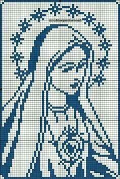 Modern Cross Stitch Patterns, Crochet Stitches Patterns, Cross Stitch Designs, Embroidery Patterns, Filet Crochet, Crochet Chart, Crochet Ideas, Cross Stitch Art, Cross Stitching