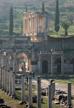 Taking the two full day guided tour to from Oludeniz, Hisaronu and Fethiye to Ephesus and Pamukkale tour you will visit ancient city of Ephesus and Pamukkale thermal pools. Places Around The World, Oh The Places You'll Go, Places To Travel, Places To Visit, Around The Worlds, Ancient Ruins, Ancient History, Ancient Greek, European History