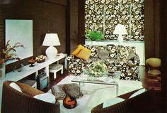 interior The Swinging Sixties Interior design by William E Hague, 1968 Interior Decorating Tips, Mid-century Interior, Interior Design, 1960s Living Room, 1960s Home Decor, 1960s House, Vintage Interiors, Vintage Decor, Small Spaces