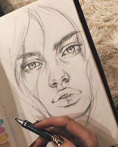 Sketchbook Drawings, Cool Art Drawings, Pencil Art Drawings, Realistic Drawings, Beautiful Drawings, Easy Drawings, Drawing Sketches, Drawing Eyes, People Drawings
