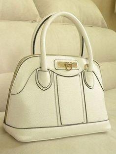Designer White Handbag