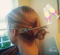 Little mermaid bachelorette party hair idea!