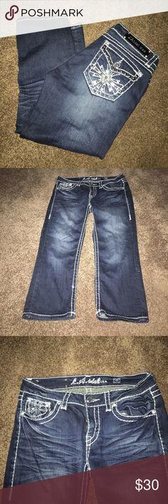 LA Idol Capris! Excellent condition, super cute! LA Idol Jeans Ankle & Cropped