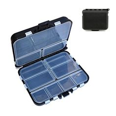 Waterproof Fishing Lure Tackle Hook Bait Storage Box Case With 16 Compartments >>> Be sure to check out this awesome product.