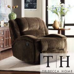 TRIBECCA HOME Bollington Chocolate Champion Microfiber Recliner Chair | Overstock.com Shopping - Big Discounts on Tribecca Home Recliners