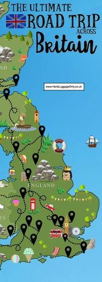 The Ultimate Road Trip Map of 26 Places To See Across Great Britain Places to travel 2019 A road trip is an incredible way to see a country especially, the truly stunning, Great Britain! One of the best things about our wonderful country is the vast Places To Travel, Places To See, Travel Destinations, Vacation Places, Road Trip Map, Reisen In Europa, Voyage Europe, Roadtrip, Travel Planner