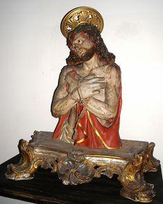Jesus Christ - wooden and polychrome sculpture, 17th century - Monastery of Santa Chiara Museum in Naples   da * Karl *
