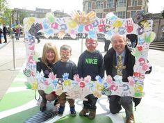 Kobey and Jenson in the frame with Rotherham's mayor and mayoress Frame, Picture Frame, Frames, Hoop, Picture Frames