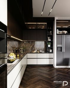 Awesome modern kitchen room are offered on our internet site. Take a look and you wont be sorry you did. Kitchen Room Design, Luxury Kitchen Design, Modern Kitchen Cabinets, Kitchen Cabinet Design, Living Room Kitchen, Home Decor Kitchen, Interior Design Kitchen, Home Kitchens, Kitchen Ideas