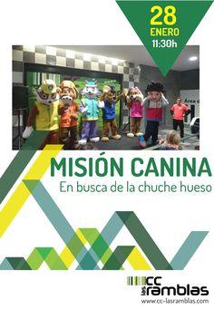 """Sábado 18 de 11:30 a 13:30 h. Misión Canina """"En busca de la chuche hueso"""""""