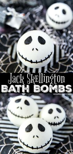 Jack Skellington Bath Bomb How to make Jack Skellington Bath Bombs - the perfect handmade gift for The Nightmare Before Christmas fans!How to make Jack Skellington Bath Bombs - the perfect handmade gift for The Nightmare Before Christmas fans! Mason Jar Projects, Mason Jar Crafts, Mason Jar Diy, Diy Projects, Jack Skellington, Nightmare Before Christmas, Galaxy Bath Bombs, Hallowen Ideas, Diy Hanging Shelves