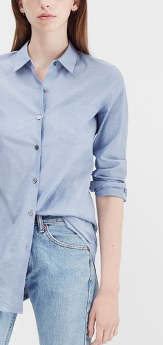 Our favorite Theory pieces styled with denim.