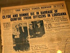 Bonnie and Clyde Museum - Bing images Bonnie And Clyde Museum, Bonnie And Clyde Death, Bonnie Clyde, Gettysburg Museum, Museums In Dallas, Pretty Boy Floyd, Historical Artifacts, Gangsters, Crime