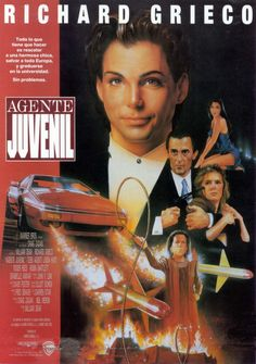 If Looks Could Kill (1991) starring Richard Grieco,Gabrielle Anwar, Roger Daltrey, Linda Hunt, and Roger Rees Richard Grieco, Roger Daltrey, 90s Movies, Good Movies, Roger Rees, High School Posters, Best Movie Posters, The Best Films, Alternative Movie Posters