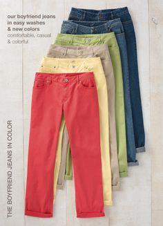 The boyfriend jeans in color and the boyfriend jeans | www.jjill.com