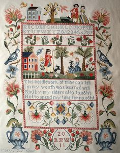 Needlework~ I love the boarder on this piece.