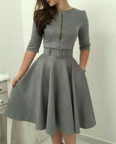 Vestidos modernos Simple Dresses, Pretty Dresses, Beautiful Dresses, Casual Dresses, Short Dresses, Formal Dresses, Modest Fashion, Hijab Fashion, Fashion Outfits