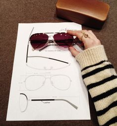 Paris was such a treat as always even though we had a busy schedule. As you know I'm here to see the prototype of my design collaboration with Louis Nielsen, which will be very exclusive and only come out in a limited edition at the Louis Nielsen stores. Above is a sneak-peak, which still needs a few adjustments – I really like the aviator shape that has references from the 70′s and yet still a timeless look http://lookdepernille.com/