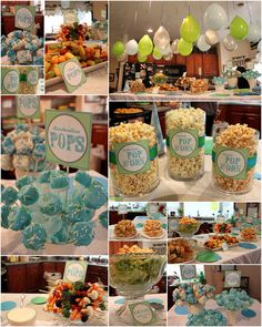 """For the food:  We did things with the word """"pop"""" in it...marshmallow pops, rice krispie pops, fruit pops, veggie pops, sandwich pops, popcor..."""