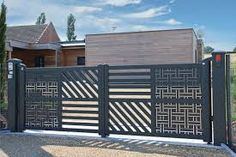 Image result for portail coulissant contemporain en fer