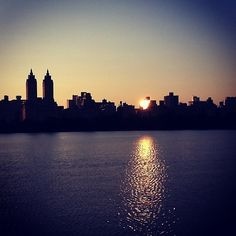 The Central Park Reservoir #NYC at Sunset!