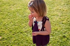 Baby girl petal summer blouse sewing pattern and by EvieandEssie