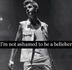 Nope. Im not. Because he inspired me to do a lot. I love him. And im not a fan. Im a belieber <3