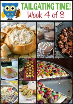 Looking for some awesome, drool worthy tailgating recipes? Tailgating Food Ideas Week 4 {OF has it all. Dips, desserts, salads, meat & more for game day. Tailgating Recipes, Tailgate Food, Appetizer Recipes, Appetizers, Dinner Recipes, Football Snacks, Beer Batter, Game Day Food, Finger Foods