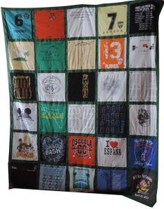 AWESOME Graduation gifts for High school students or college grads! T-shirt quilt, double sided, double size  Check out my Etsy Shop www.etsy.com/shop/stitchingupmemories.com