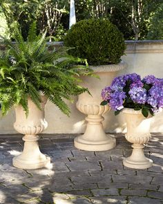 Andros Traditional Urn Planters by NM EXCLUSIVE at Horchow.