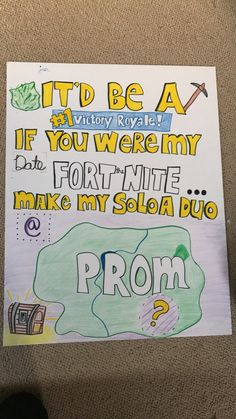 Fortnite promposal 2018