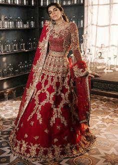 Heavy embroidery work red velvet lehenga choli Indian Pakistan wedding bridal lehenga Ghagra choli c Lehenga Choli, Pakistani Bridal Lehenga, Indian Wedding Lehenga, Pakistani Wedding Outfits, Indian Bridal Outfits, Pakistani Dresses, Indian Dresses, Anarkali, Walima