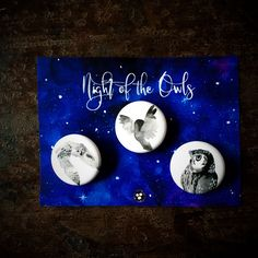 Night of the Owls: Button collectin Spirited Art, Owls, Music Instruments, Buttons, Night, Illustration, Musical Instruments, Illustrations, Owl